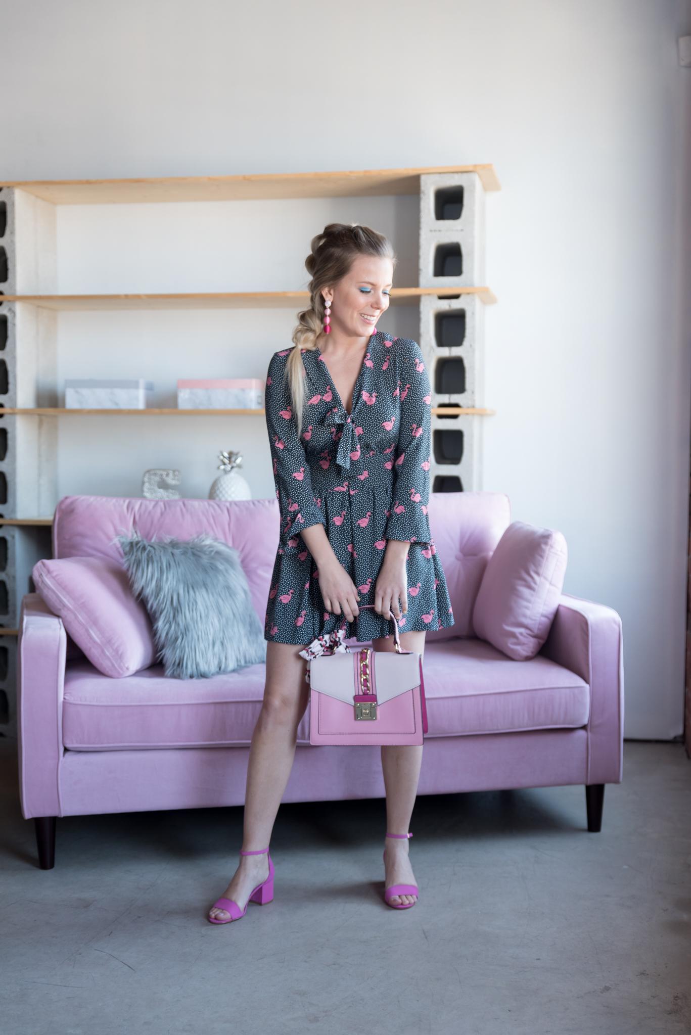 Lookbook printanier – Flamants roses